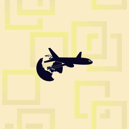 Aircraft icon Vector illustration.  イラスト・ベクター素材
