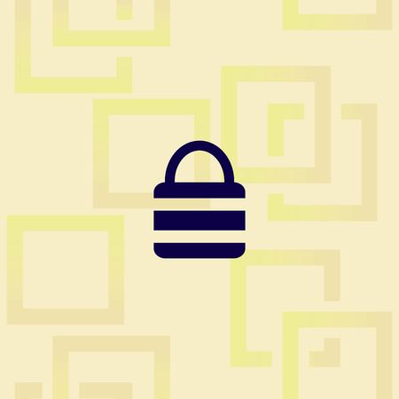 Lock, safety, security icon design Illustration