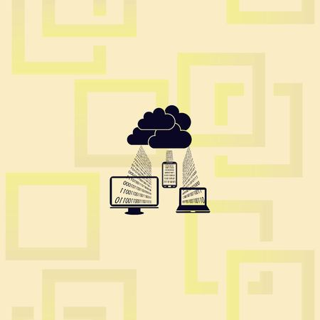 Cloud storage icon design Illusztráció