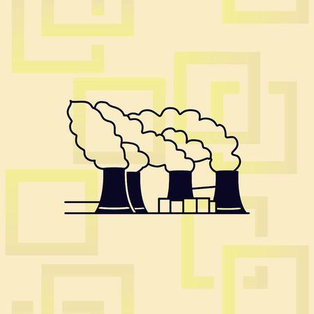 Factory silhouette icon design