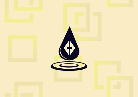 Water Droplet  icon vector illustration. 일러스트
