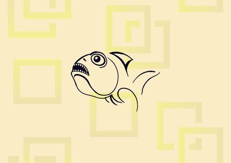 Fish icon vector illustration.