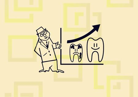 Dentistry, dental treatment icon vector illustration. Ilustração