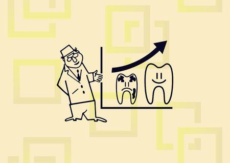 Dentistry, dental treatment icon vector illustration. Stock Illustratie