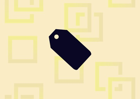 Sale tag icon, vector illustration flat design style.