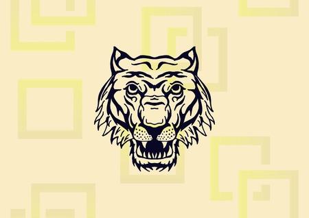 Tiger icon vector illustration. Illustration