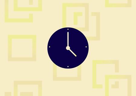 Clock icon. Çizim