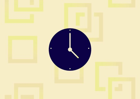 Clock icon. Illustration
