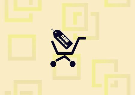 Shopping trolley icon vector illustration
