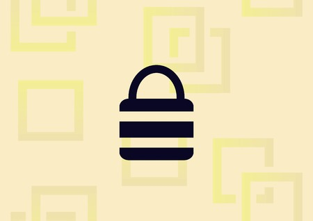 Lock, safety, security  icon vector illustration.