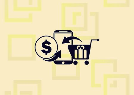 Online sale icon vector illustration