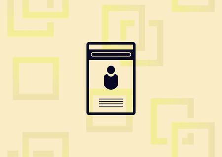 Document determining identity  icon vector illustration.