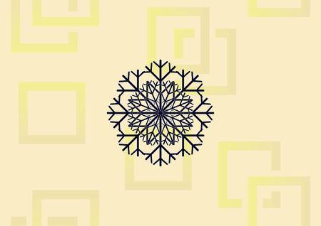 Snowflake  icon vector illustration. Illustration