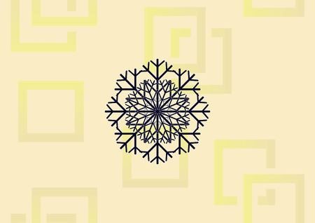 Snowflake  icon vector illustration. Vectores