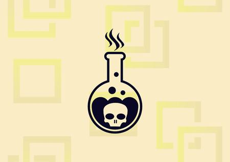 Laboratory equipment, chemistry, science icon vector illustration