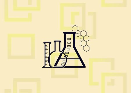 Laboratory equipment, chemistry, science icon vector illustration