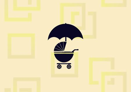 Baby carriage icon vector illustration