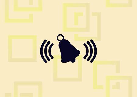 Ringer bell  icon vector illustration.