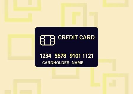 Corporate card icon, credit card icon vector illustration
