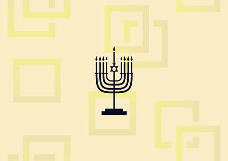 Star of David Jewish synagogue icon vector illustration Ilustração