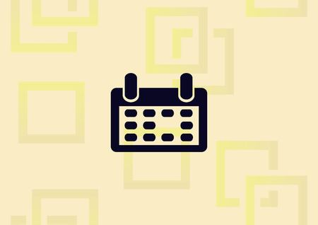 A calendar diary icon isolated on background with pattern