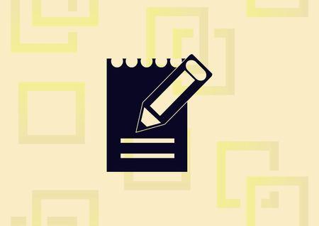 Pencil writing  icon vector illustration.  イラスト・ベクター素材