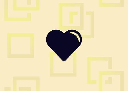 Human heart, Love  icon vector illustration.
