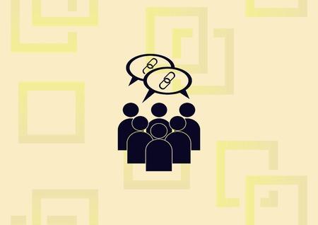 Social Media friends  icon vector illustration.