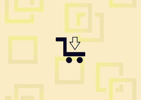 Shopping trolley, cart icon illustration on light background. Ilustração