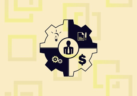Business strategy icon, business concept icon, vector illustration.
