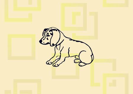 Vector illustration of a puppy. Illustration