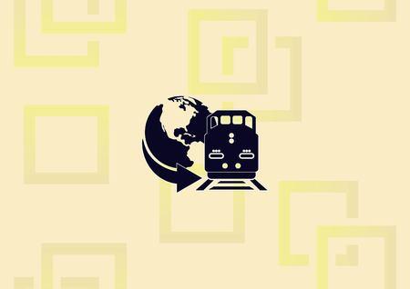 Freight train  icon vector illustration.