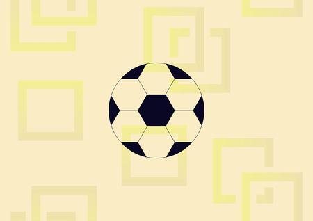 Soccer ball graphic design element  illustration.