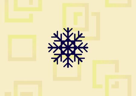 Snowflake icon illustration on light background.