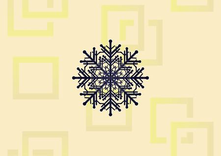 Snowflake icon illustration on light background.