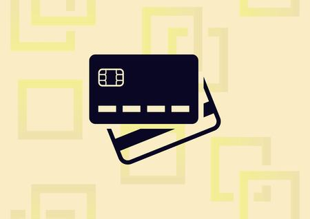 Corporate card icon, credit card  icon vector illustration. Ilustrace
