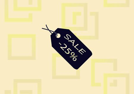SALE tag icon vector illustration.