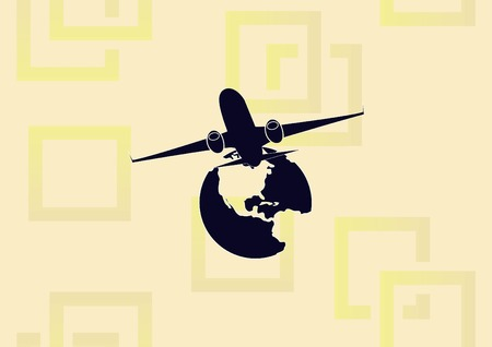 Aircraft icon vector illustration.