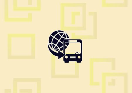 Bus icon vector illustration.