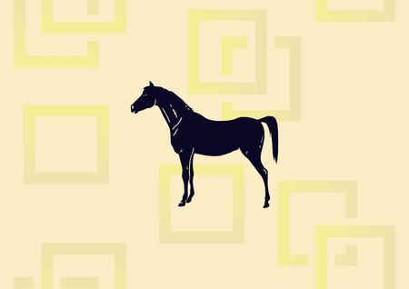 Horse icon vector illustration.
