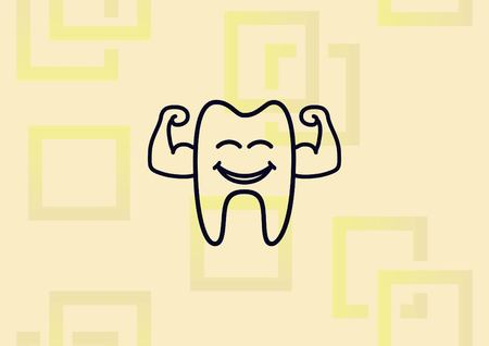 Dentistry, dental treatment icon vector illustration. Illustration
