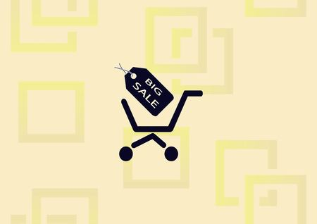 Shopping trolley, cart icon vector illustration.