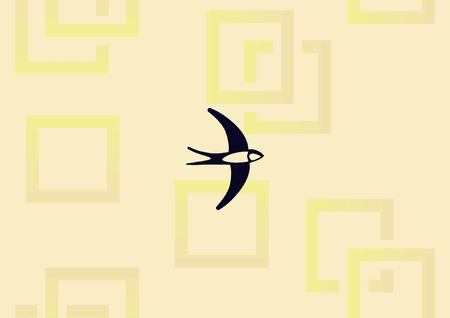 Bird icon vector illustration.
