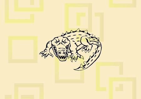 Alligator icon vector illustration.