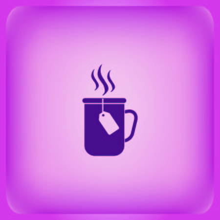 Tea icon on color background Vector illustration.