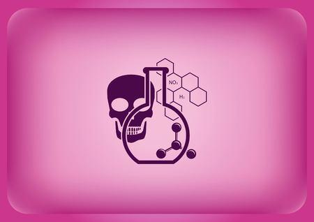 Laboratory equipment chemistry science icon Vector illustration.