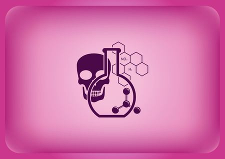 Laboratory equipment chemistry science icon Vector illustration.
