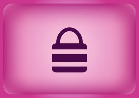 Lock  safety  security icon Vector illustration. Illustration