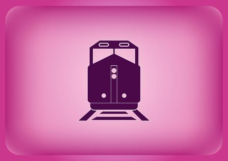 Freight train icon Vector illustration.
