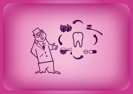 Dentistry, dental treatment icon Vector illustration.